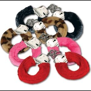 Other - 1 New Furry Metal Handcuffs. Color Random